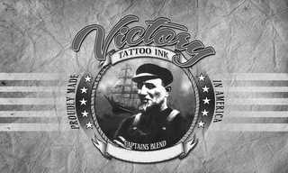 mark for VICTORY TATTOO INK CAPTAINS BLEND PROUDLY MADE IN AMERICA, trademark #85789591