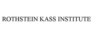 mark for ROTHSTEIN KASS INSTITUTE, trademark #85789856