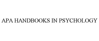 mark for APA HANDBOOKS IN PSYCHOLOGY, trademark #85790278