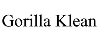 mark for GORILLA KLEAN, trademark #85790372