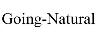 mark for GOING-NATURAL, trademark #85790381