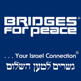 mark for BRIDGES FOR PEACE . . YOUR ISRAEL CONNECTION., trademark #85790390