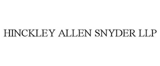 mark for HINCKLEY ALLEN SNYDER LLP, trademark #85791795