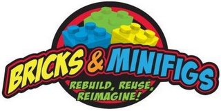 mark for BRICKS & MINIFIGS REBUILD REUSE REIMAGINE!, trademark #85792402