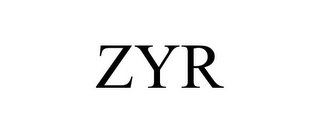 mark for ZYR, trademark #85793434