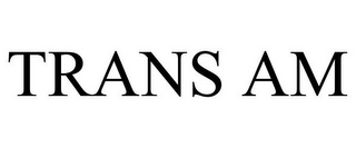 mark for TRANS AM, trademark #85794602