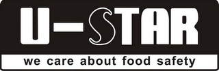 mark for U-STAR WE CARE ABOUT FOOD SAFETY, trademark #85795859