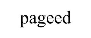 mark for PAGEED, trademark #85796075