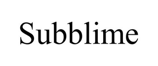 mark for SUBBLIME, trademark #85796461
