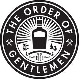 mark for THE ORDER OF GENTLEMEN 35N 86W ESTD 1988, trademark #85799706