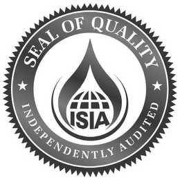 mark for ISIA SEAL OF QUALITY INDEPENDENTLY AUDITED, trademark #85800645