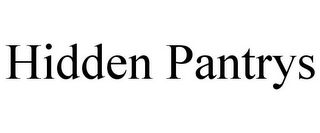 mark for HIDDEN PANTRYS, trademark #85801283
