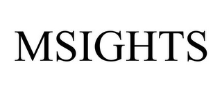 mark for MSIGHTS, trademark #85802016
