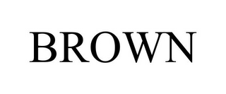 mark for BROWN, trademark #85802408