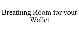 mark for BREATHING ROOM FOR YOUR WALLET, trademark #85803226