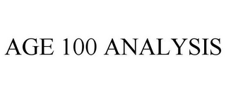 mark for AGE 100 ANALYSIS, trademark #85805541