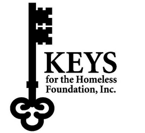 mark for KEYS FOR THE HOMELESS FOUNDATION, INC., trademark #85805927