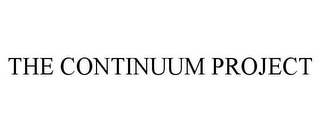 mark for THE CONTINUUM PROJECT, trademark #85805928