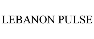 mark for LEBANON PULSE, trademark #85806246