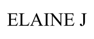 mark for ELAINE J, trademark #85806248