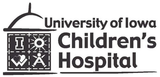 mark for UNIVERSITY OF IOWA CHILDREN'S HOSPITAL I O W A, trademark #85806801
