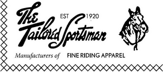 mark for THE TAILORED SPORTSMAN EST 1920 MANUFACTURERS OF FINE RIDING APPAREL, trademark #85806829