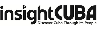 mark for INSIGHTCUBA DISCOVER CUBA THROUGH ITS PEOPLE, trademark #85806932