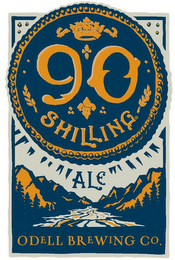 mark for 90 SHILLING ALE ODELL BREWING CO., trademark #85807667