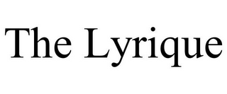 mark for THE LYRIQUE, trademark #85808874