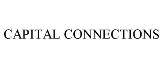 mark for CAPITAL CONNECTIONS, trademark #85809549