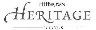 mark for HH BROWN HERITAGE BRANDS, trademark #85810153