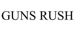 mark for GUNS RUSH, trademark #85810268