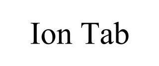 mark for ION TAB, trademark #85810645