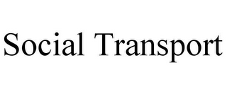 mark for SOCIAL TRANSPORT, trademark #85811632