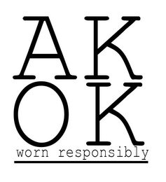 mark for AK OK WORN RESPONSIBLY, trademark #85812399