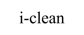 mark for I-CLEAN, trademark #85812467