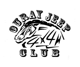 mark for OURAY JEEP CLUB 4X4, trademark #85812899