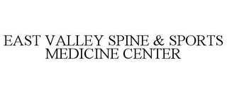mark for EAST VALLEY SPINE & SPORTS MEDICINE CENTER, trademark #85813800