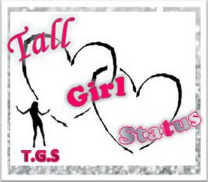 mark for TALL GIRL STATUS T.G.S., trademark #85814316