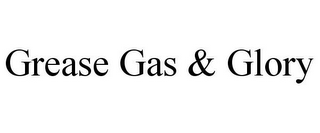 mark for GREASE GAS & GLORY, trademark #85815505