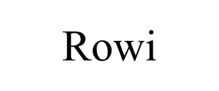 mark for ROWI, trademark #85815828