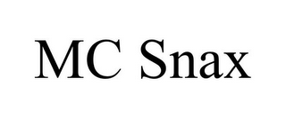 mark for MC SNAX, trademark #85816257