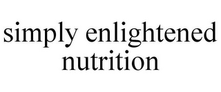mark for SIMPLY ENLIGHTENED NUTRITION, trademark #85816482