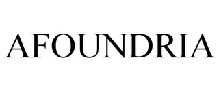 mark for AFOUNDRIA, trademark #85816698