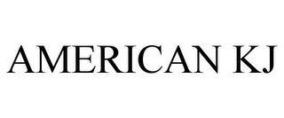 mark for AMERICAN KJ, trademark #85817690
