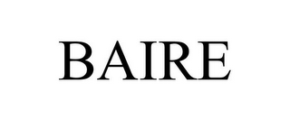 mark for BAIRE, trademark #85817961