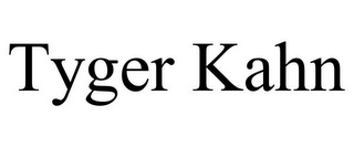 mark for TYGER KAHN, trademark #85818039