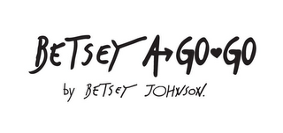 mark for BETSEY JOHNSON A GO GO BY BETSEY JOHNSON., trademark #85818146