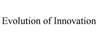 mark for EVOLUTION OF INNOVATION, trademark #85818743
