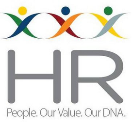 mark for HR PEOPLE. OUR VALUE. OUR DNA., trademark #85819456